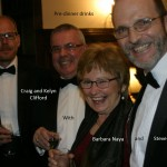 Craig, Cliff and Barbara with Steve Tinker