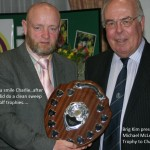 Gives us a smile Charlie - clean sweep of the golf match - with Mac McLean Memorial Trophy