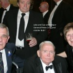 Jake and Sue with General Pete Craig and his minder behind..oh no it's Bob