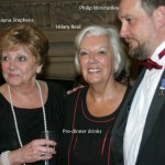 Rayna Stephens, Hilary Reid with Phil Winstanley